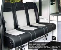 Schlafsitzbank Renault Trafic,Opel Vivaro,Fiat Talento,V3000 Gr.10 Leder 2-fbg.