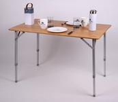 Bambus-Tisch HOLIDAY TRAVEL, Aluminiumgestell, 100x65x42/65cm
