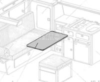 VW T3 Schwenktisch Granitto Schichtstoff als Bausatz
