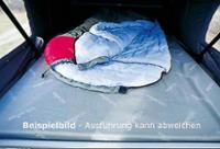 Schlafdachbett VWT4 kR superfl.vorne hoch, Hellgrau-Schichtstoff