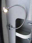 LED-Schwanenhalsleuchte silber 1,5Watt