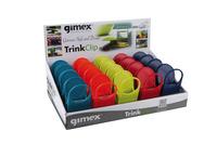 Gimex Glas- u.Getränkehalter - Tisch-Clips - 4x5 Farben im Display