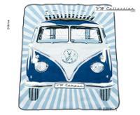 VW Collection Bulli-Picknickdecke, 2x1,5m, wasserabweisende Rückseite, blau