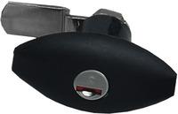 Kofferklappenschloß Ellipse schwarz ohne Zylinder + Schlüssel