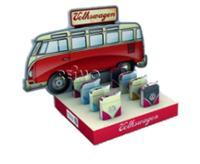 VW Collection Feuerzeuge, Display, VW Bulli Front, 8 Stück in 4 Farben