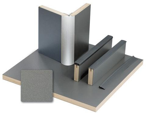 Möbelbauplatten Anthrazit Metallic Schichtstoff, HPL