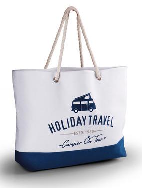 Strandtasche Holiday Travel, Canvas, 60x40x14cm