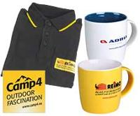 Merchandising - T-Shirts, Tassen, Aufkleber